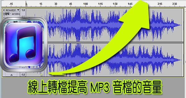 線上轉檔提高 MP3 音檔的音量