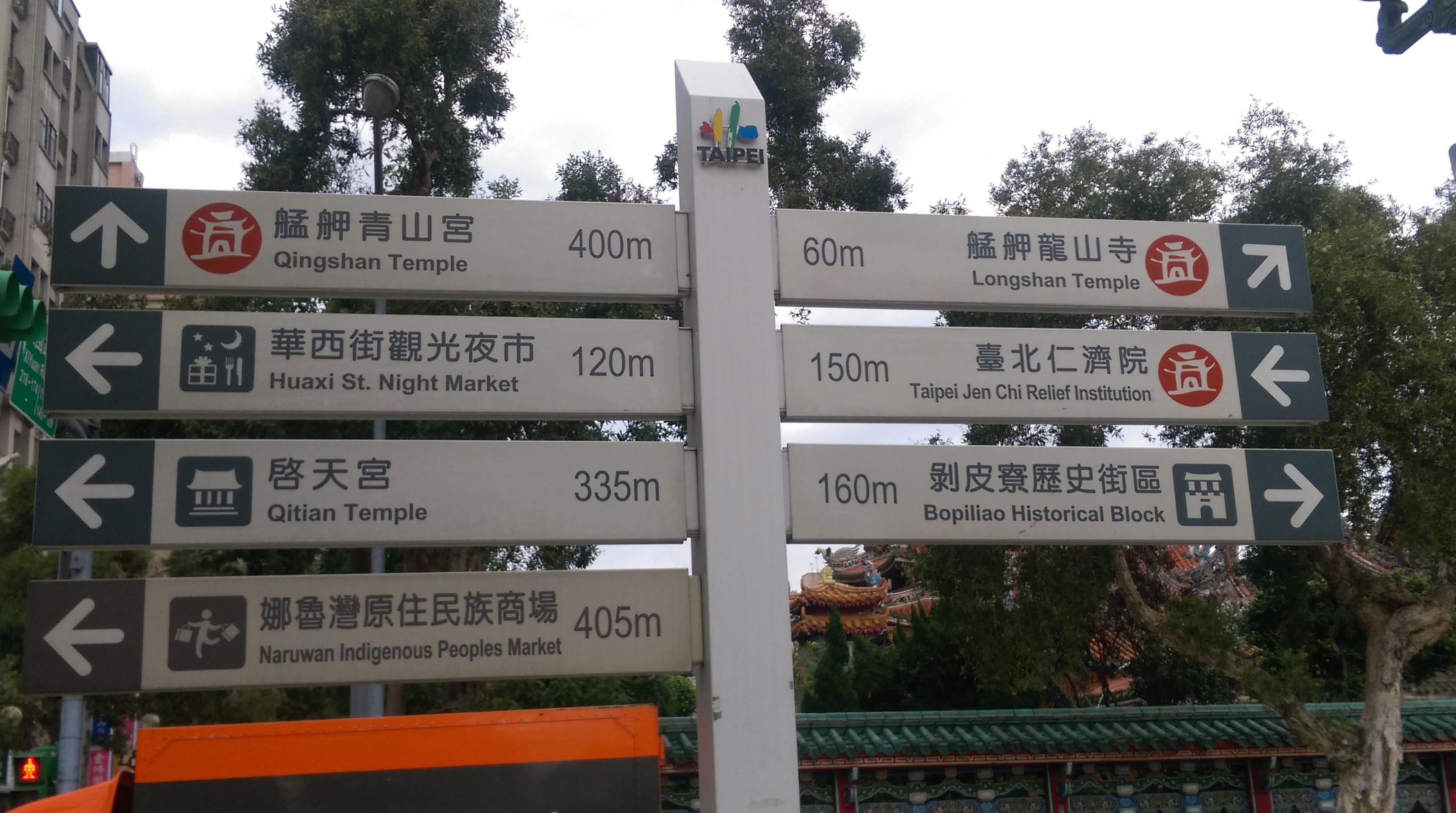 160116-龍山寺路標