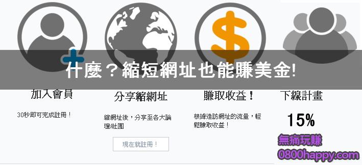 [短網址]什麼?縮短網址也能賺美金!!!