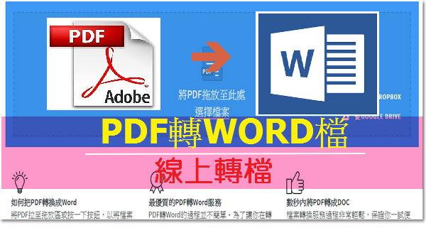 [轉檔]線上PDF互轉Word檔