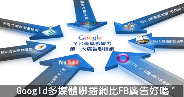 Google多媒體聯播網比FB廣告好嗎?