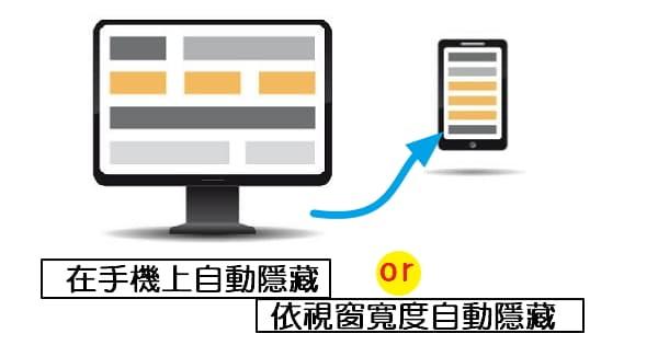 CSS筆記-在手機上自動隱藏or依視窗寬度自動隱藏