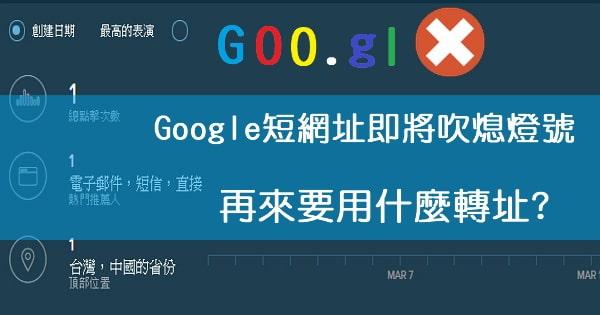 [短網址]Google短網址宣佈熄燈,再來要用什麼轉址呢?