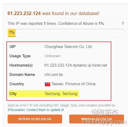 [網站資安]檢查一下攻擊你網站的IP來自何處