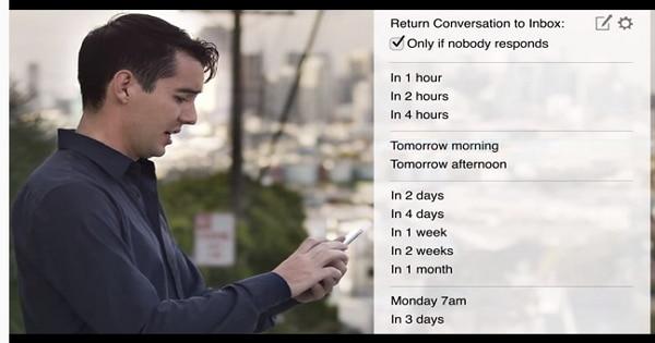 [排程寄信]收到email後若暫時無法處理,可以一鍵讓此信在指定時間時重新再寄給你