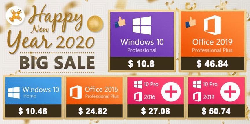 【軟體特價】2020新年大促銷(30%折扣)專業版window 10 pro只要323台幣