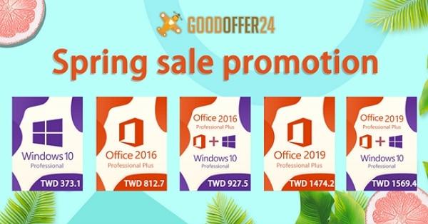 【軟體特價】只需台幣 373 元即可獲得Windows 10 Pro,台幣 812.7 元即可獲得Office Pro